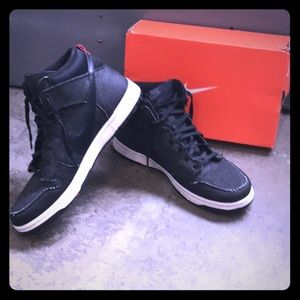 Men's Special Edition Black Denim Hightop Sneakers
